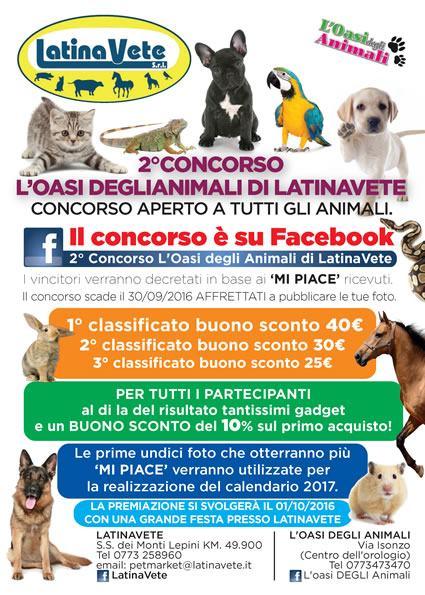 2° edizione del Concorso lanciato da LatinaVete in collaborazione con l'Oasi degli Animali